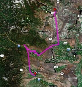 AirNav Pro Yakima to Lake Chelan