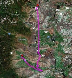 AirNav Pro Lake Chelan to Yakima
