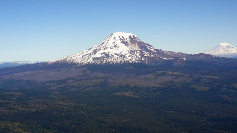 Mt. Adams with Mt. Rainier
